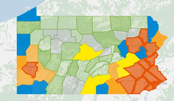 3/29 COVID-19 PA MAP