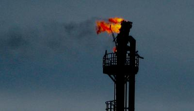 Torch system on an oil field gas-fracking