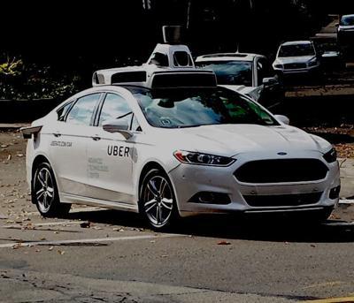 Uber Self-Driving Test Car