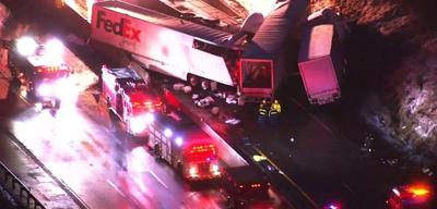 5 dead, dozens hospitalized in Pennsylvania Turnpike crash.