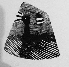 Goose Game Woodblock Engraving