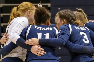 The Westminster College volleyball team