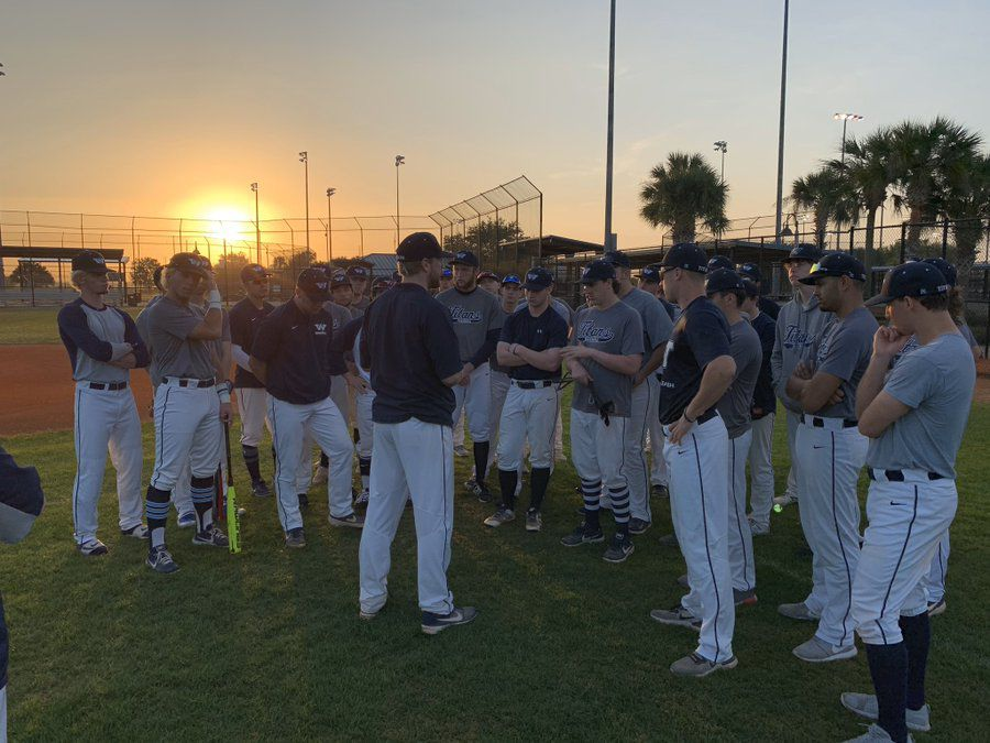 Titans on the field in Florida in March.  Source: @WCTitanBaseball