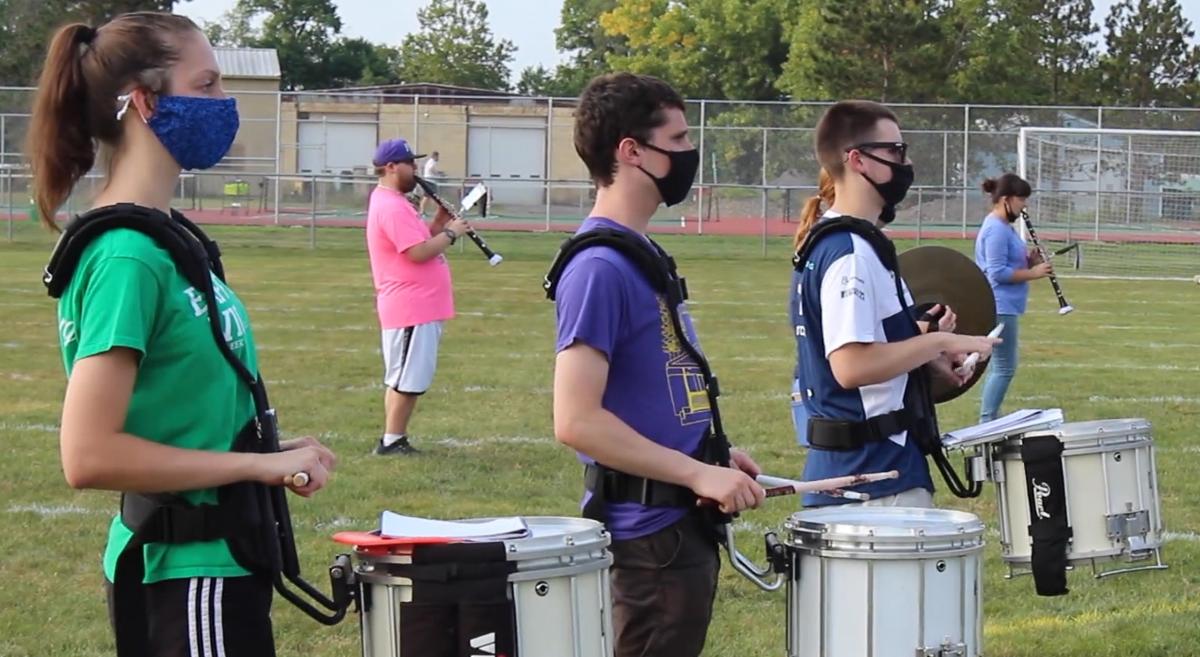 Drummers masked up...
