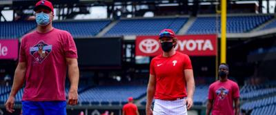 phillies with masks
