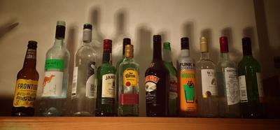 Collected Alcohol Bottles