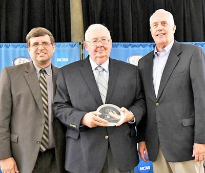 David Barner receives PAC media award.