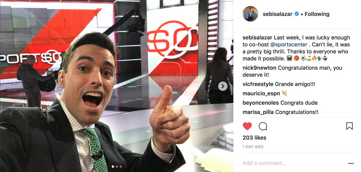 Sebast on SportsCenter