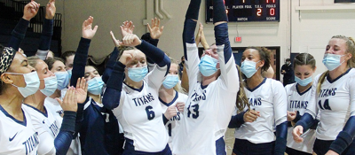 Titans are back-to-back PAC volleyball champs