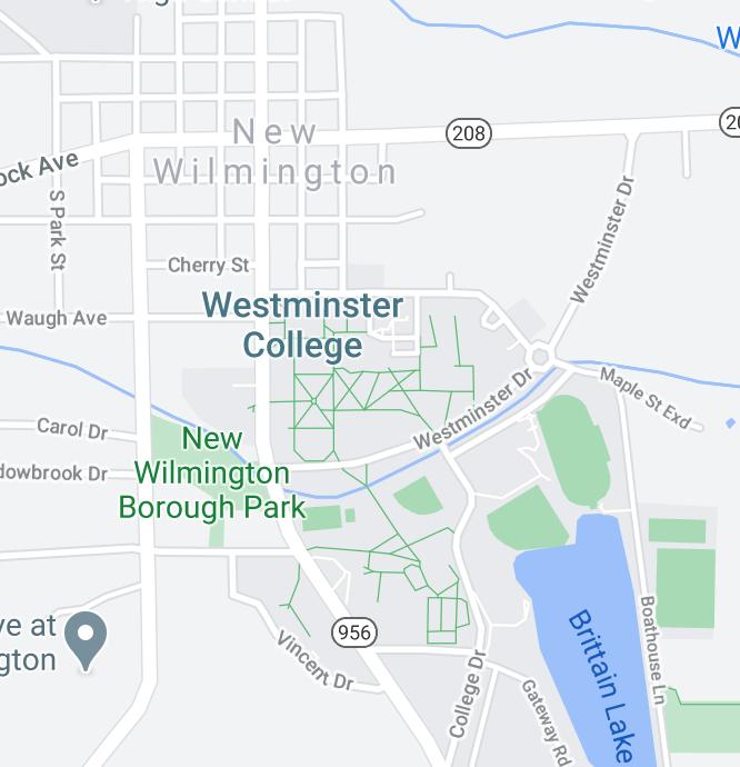 New Wilmington map