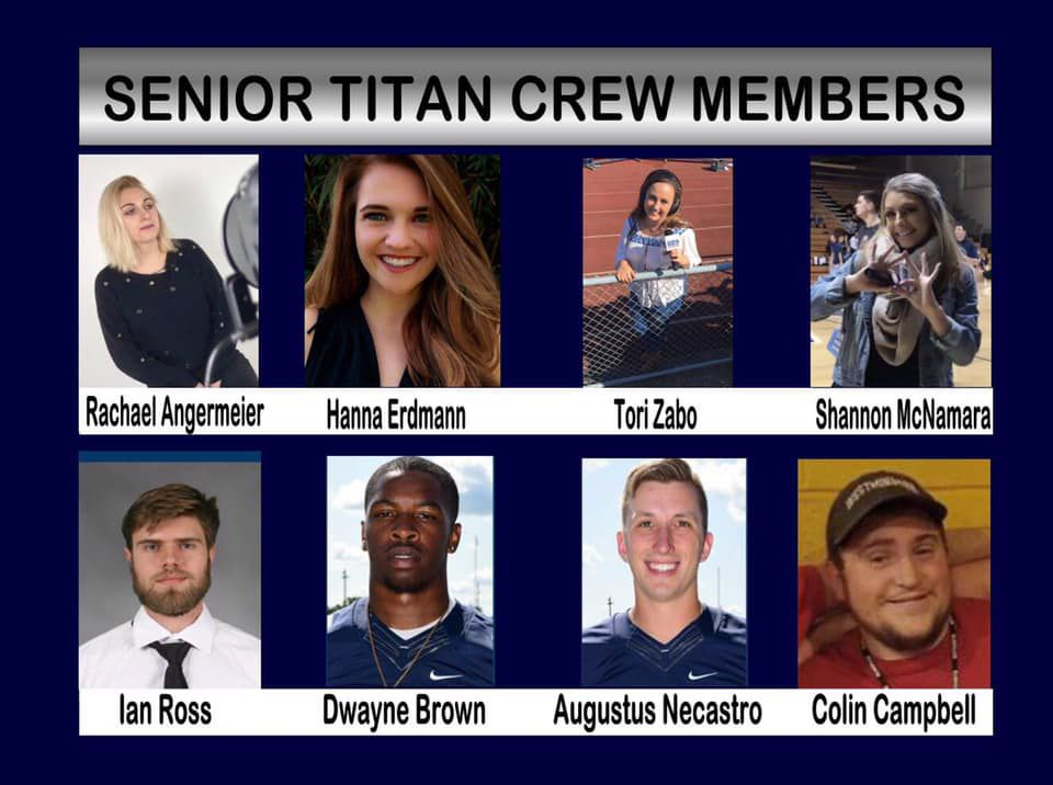 Tipping our cap to all of our senior Titan Crew members who have put in countless hours bringing the Titans into your living rooms. Thanks for all you have done!