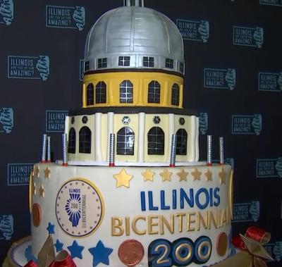 Illinois Bicentennial Cake