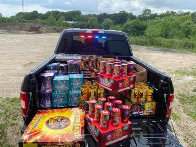 Kane County Sheriff Fireworks