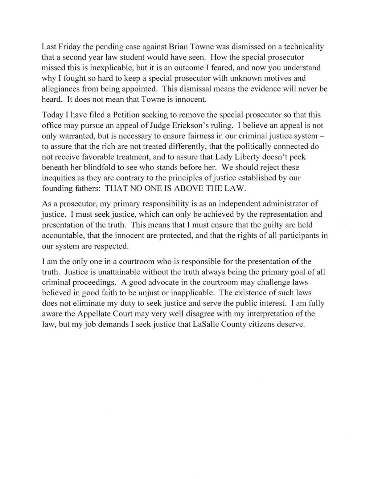Karen Donnelly Press Release and Motion
