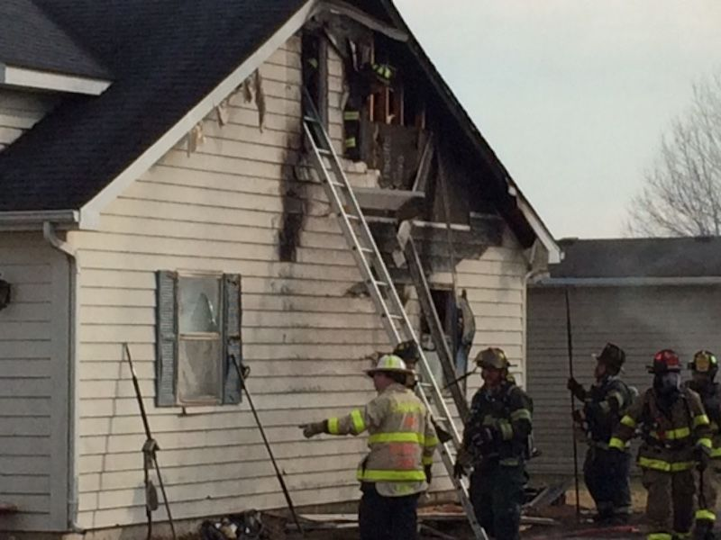 Fire damage at 215 Meadowlark Ln. in Wildwood S. Subdivision on 01 28 2018