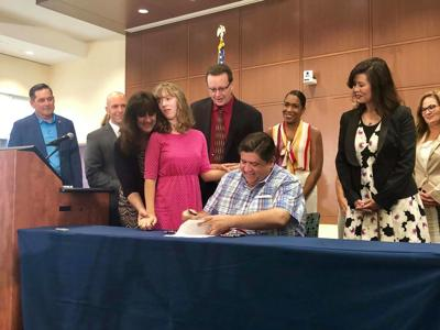 Pritzker Medical Cannabis Signing photo
