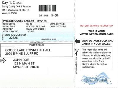 Grundy County Clerk's Office Sends Out New Voter Registration Cards