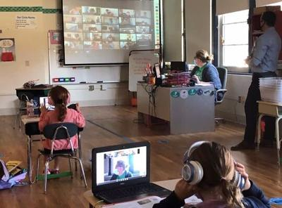 Brandywine School District students conduct class in a hybrid learning format