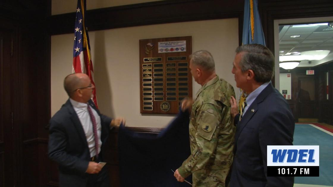 Two Delaware businesses are recognized for support of military and veterans