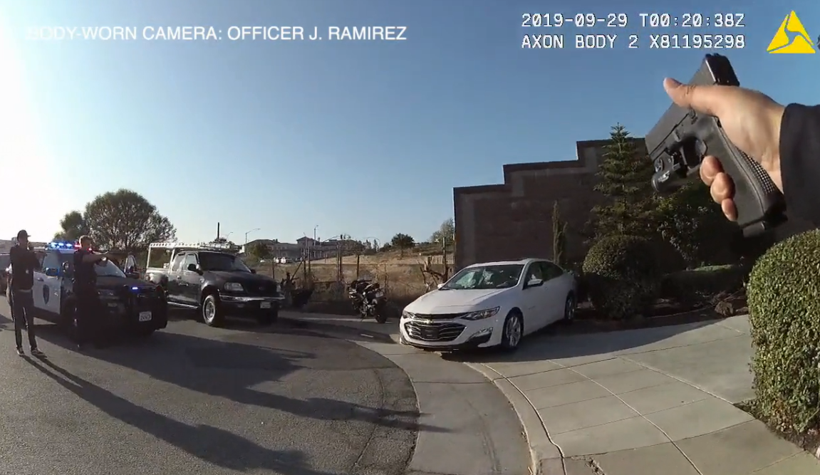 CA body camera footage officer-involved shooting