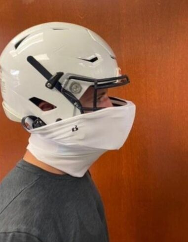 One of the proposed mask types to be used by football players in Delaware