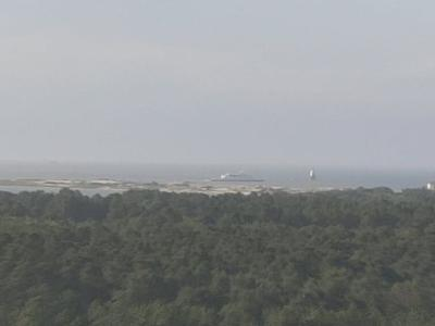 Cape May Lewes Ferry passes by the Point at Cape Henlopen