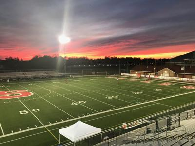 Smyrna's football stadium before their 2019 DIAA Quarterfinal game against Salesianum