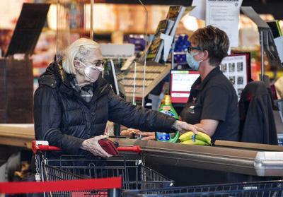 Virus outbreak shopping face mask
