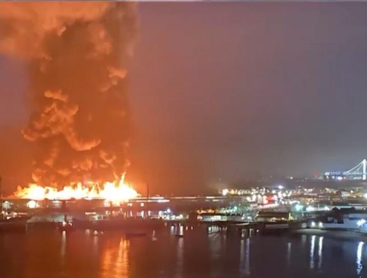 San Francisco waterfront fire 052320