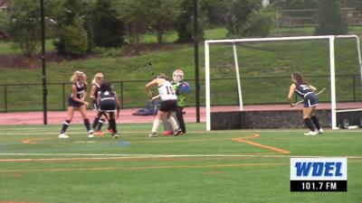 Ursuline's Cleo Troy makes a save against Wilmington Friends