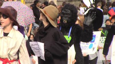 Wordplay in Wilmington: students parade, party in the streets to celebrate Dictionary Day