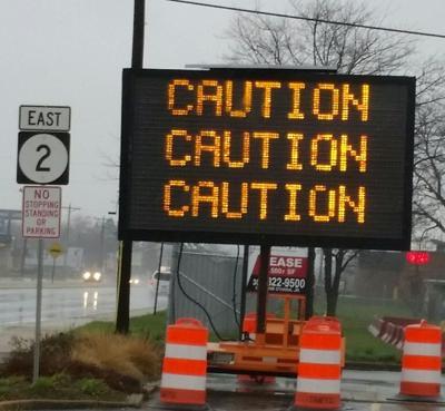Pedestrian Caution sign
