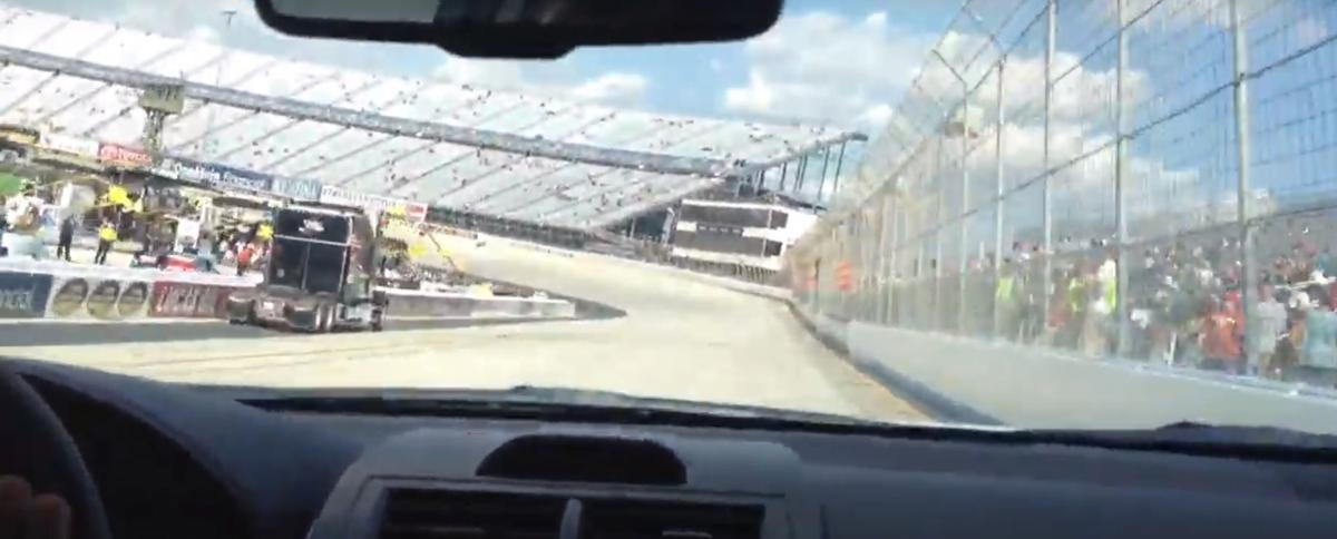 The look out the pace car before a 2012 race at Dover International Speedway