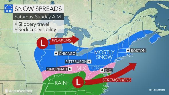 Springlike bookends to President's Day weekend to be upstaged by a fresh reminder of the season
