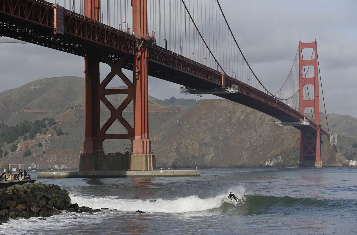 California Surf Golden Gate Bridge San Francisco