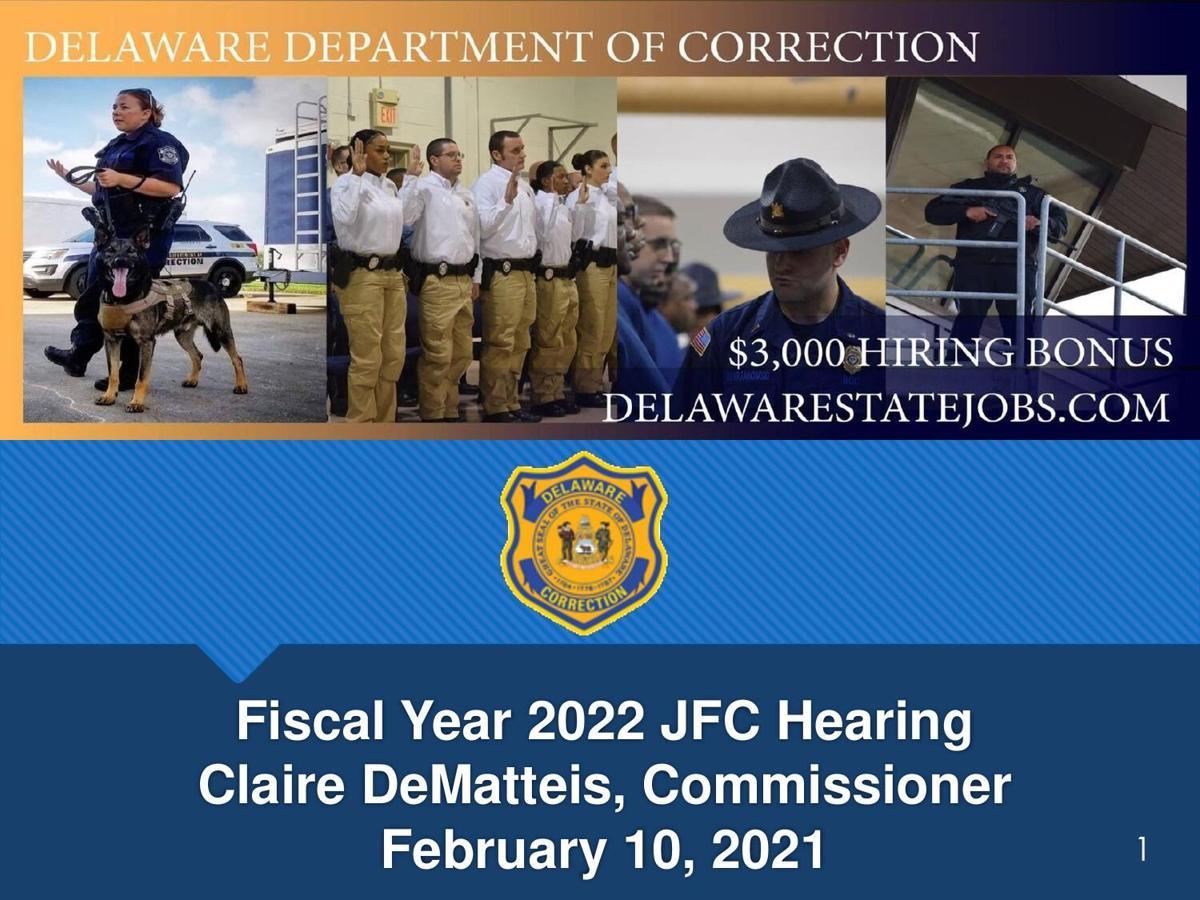 Delaware DOC FY '22 budget presentation