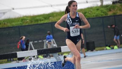 Lydia Olivere runs the 3,000m steeplechase for Villanova