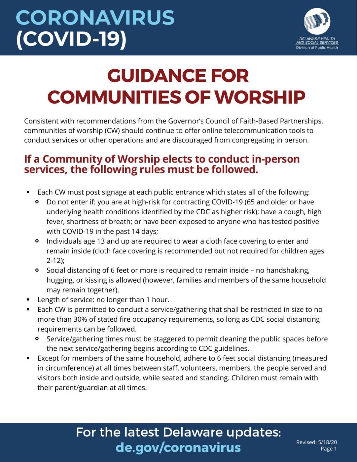 Updated Worship Guidance 051920