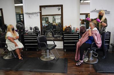 Virus Outbreak Hair Salon