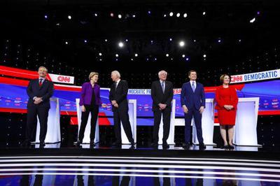 2020 Iowa Debate Picture (WDEL)