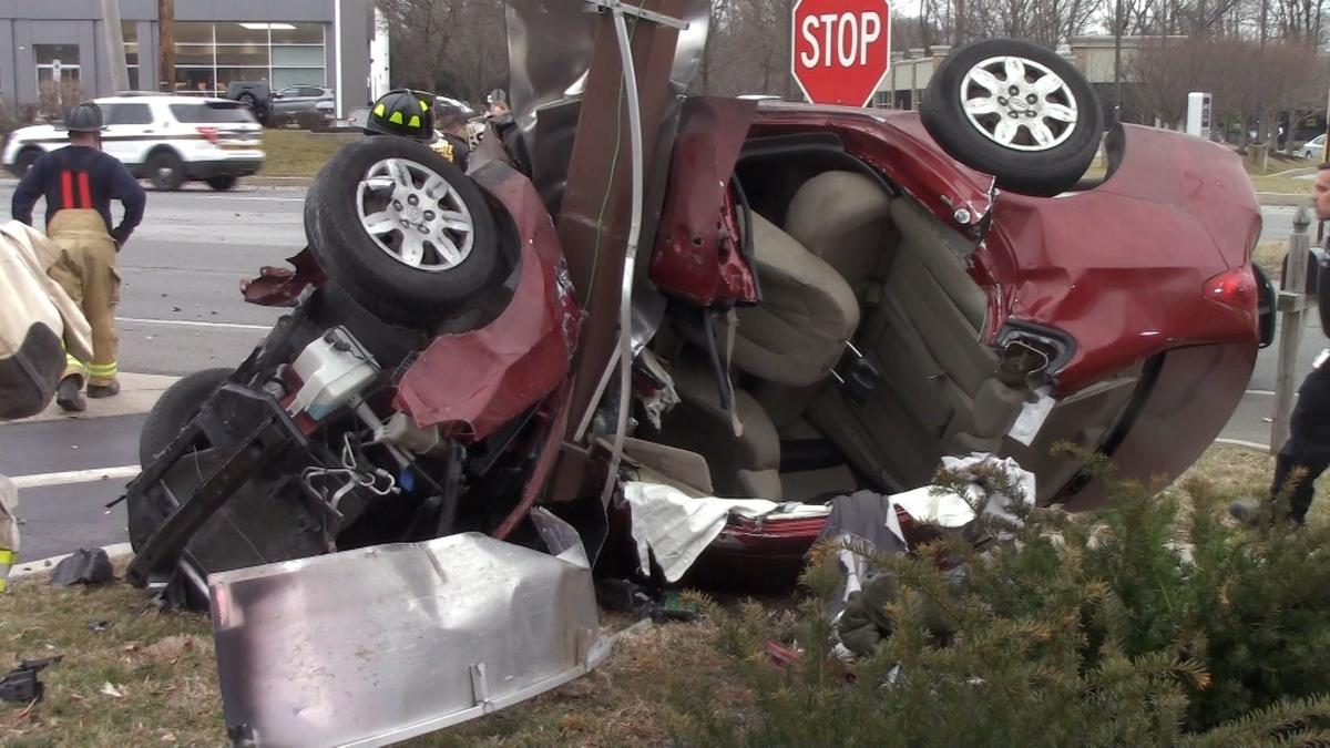 VIDEO | Person seriously hurt in violent Route 202 crash