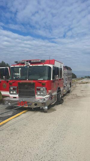Harrington fire truck crashes on way home from parade