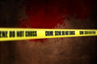 Generic Crime: police tape, bloody bg