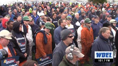 VIDEO | Rally for jobs draws hundreds of workers to Delaware