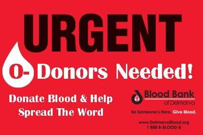 Urgent need for blood donors in Delaware