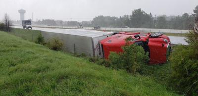 Tractor-trailers toppled 080420