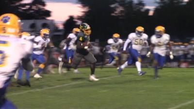 Saint Mark's Donovan Artis rushes for a touchdown against A.I. duPont