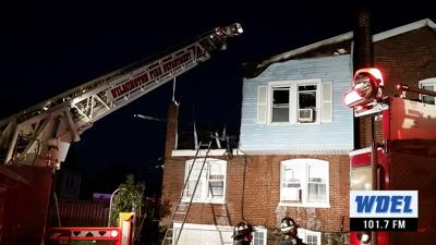 3 people, 5 cats safe after fire destroys Wilmington rowhome
