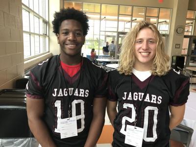Appoquinimink linebackers E.J. Brister and Josh Parson