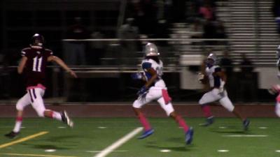 St. Georges' Gi'Vonni Sanchez returns a fumble for a touchdown against Appoquinimink